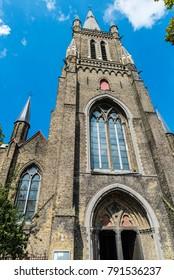 Church of St Magdalene ( Heilige Magdalenakerk ) in the medieval city of Bruges, Belgium