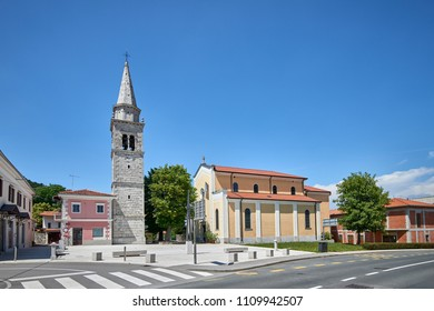 Church of St. Martin in Sežana, Slovenia.  The Sežana parish church was built in Renaissance style and is dedicated to the bishop St. Martin