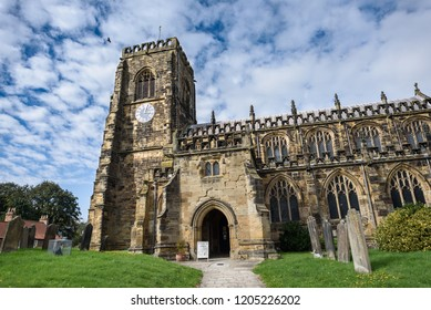 The church of St Mary, dating from 15th century, in the market town of Thirsk, North Yorkshire, UK