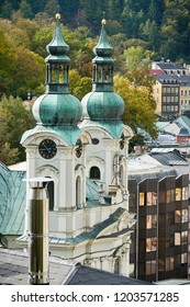 The church of St. Mary Magdalene in the old town of Karlovy Vary in the Czech Republic