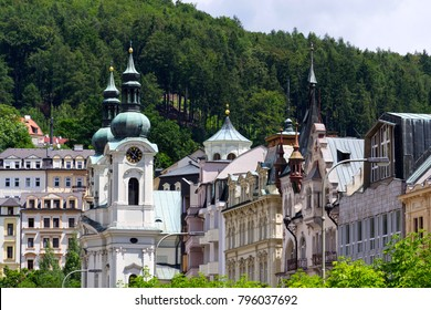 Church of St. Mary Magdalene in spa town Karlovy Vary, Czech Republic, National Cultural Monument