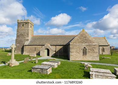 Church of St Materiana near Tintagel castle Cornwall, traditional Cornish church