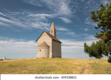 The Church of St. Michael Archangel. Early Romanesque church from the first half of the 11th century. Drazovce, Nitra, Slovakia.