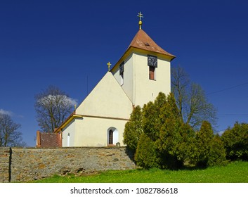 Church of St. Michael in Zizkovo Pole from 13th century, near  Pribyslav in East Bohemia, Czech Republic