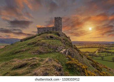 The Church of St Micheal de Rupe on Brentor, Dartmoor National Park, Devon England UK