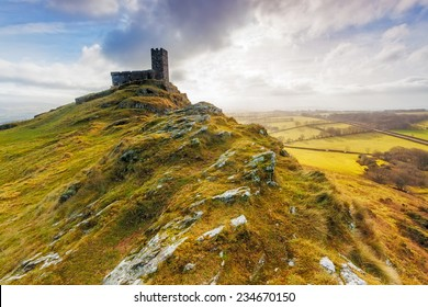 The Church of St Micheal de Rupe on Brentor, Dartmoor National Park, Devon England UK