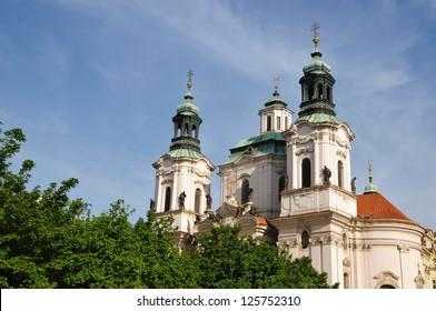 The Church of St. Nicholas in Prague, Czech Republic