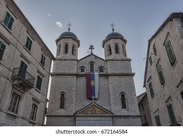 Church of St. Nicholas in the town of Kotor. Montenegro, summer 2017