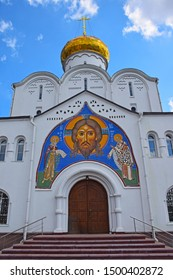 Church of St. Nicholas at the Tver Outpost, belongs to the old believer community.  It was built in 1914. The temple is made in neo-Russian style, architect — Anton Gordienko. Russia, Moscow, July 201