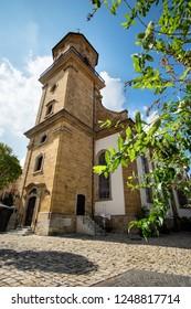Church St Nikolaus in the German town Aalen in Summer