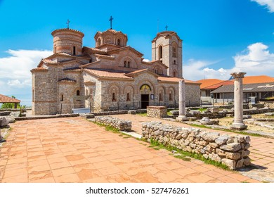 Church of St. Panteleimon in Ohrid in a beautiful summer day, Republic of Macedonia