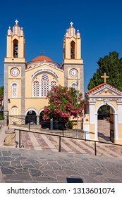 Church of St. Panteleimon in Siana was built over 400 years ago. Rhodes, Dodecanese Islands, Greece, Europe