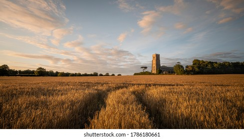 The church of St Peter and St Paul in Honing on a Summers Evening.
