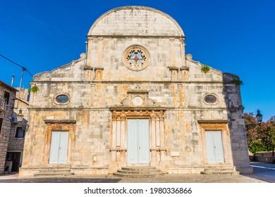 The church of Stari Grad, Hvar island, Croatia - Shutterstock ID 1980336866