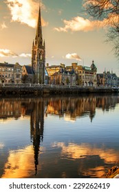Church Steeple reflection on the River Tay