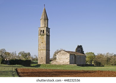 Church of Sterna in the north central Istria - Shutterstock ID 448232536
