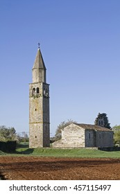 Church of Sterna in the north central Istria - Shutterstock ID 457115497