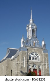 A church in St.Sauveur, Quebec, Canada