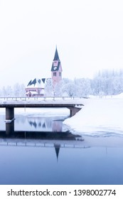 A church in Sweden during winter