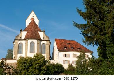 Church Switzerland in the little village Herznach