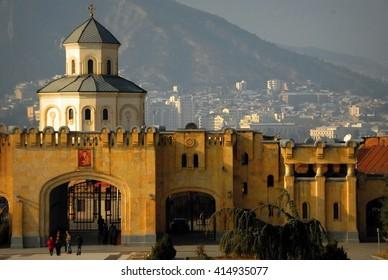 Church Tbilisi The Sameba Cathedral City