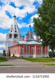 Church of the Tikhvin Icon of the Mother of God (1858-1861) and bell tower of the Assumption Cathedral on the Cathedral Square of the Kolomna Kremlin