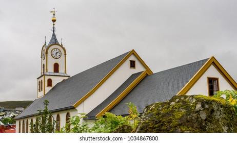 Church of Torshavn, the capital of Faroe Islands.