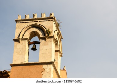 Church tower with bell in Sicily