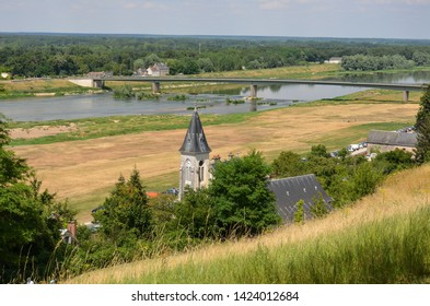 A church tower in Chaumont-sur-loire, on the side of Loire river