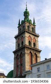 Church tower in Lviv - Ukraine