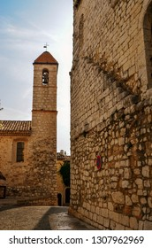 Church tower in St Paul de Vence France