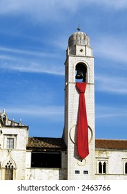 church tower with tie