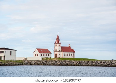 Church of town of Raufarhofn in north Iceland