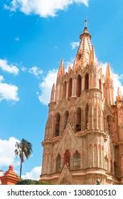 Church town San Miguel de Allende, San Miguel Arcangel, Guanajuato, Mexico