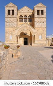 Church of the Transfiguration, Israel. Situated on Mount Tabor in the place where Jesus Christ is believed to have been transfigured and where he spoke to Moses and Elijah