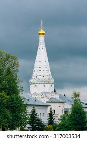 Church in Trinity Sergius Lavra, Sergiev Posad, Russia. The Golden Ring is a ring of cities northeast of Moscow, the capital of Russia. They formerly comprised the region known as Zalesye.