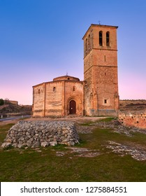 Church of the True Cross, of Romanesque style, was known in antiquity as the Holy Sepulcher. Catholic temple, San Marcos neighborhood in the city of Segovia, autonomous community of Castilla y León.