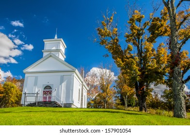 A church in upstate New York in autumn