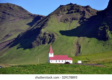 Church in Vik, Little Town in Southern Iceland