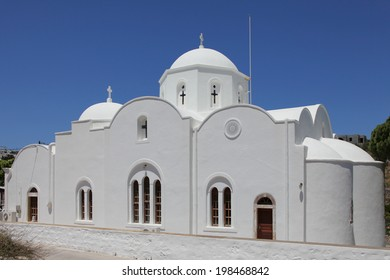 church in the village Kampos on the island of Patmos, Greece