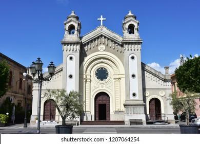 church in village Locri in Calabria,Italy