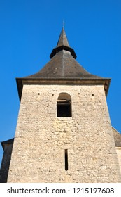 Church in village Turenne in French Limousin