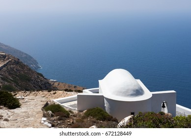 The church of the Virgin of Sikinos donation from Odysseas Elytis, Old Chora, Sikinos-island