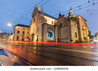 Church of the Visitation of the Blessed Virgin Mary in Krakow. Krakow, Lesser Poland, Poland.