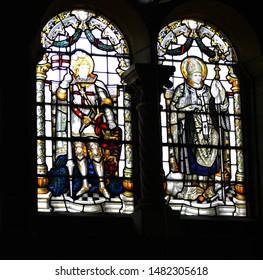 Church windows.  Sevenoak, Kent the 5th of August 2019