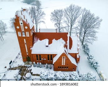 Church in the winter, covered by the snow