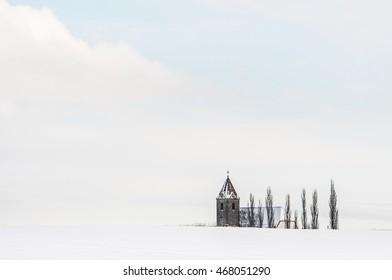 church in a winterly landscape