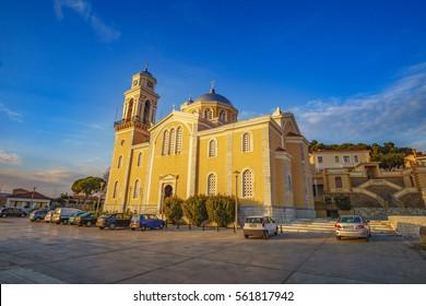 The church of Ypapanti is the Metropolitan church of Kalamata city that celebrates on February 2nd, but the rituals last 14 days. Kalamata, Messenia, Greece.
