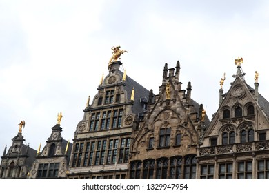 Churches and buildings in Antewerp, Belgium.