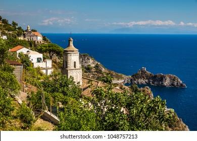 Churches On Amalfi Coast - Salerno Province, Campania Region, Italy, Europe